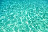 Green Water Background, Elafonisi Beach, Crete, Greece Fotografisk tryk af  beerkoff