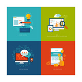 Flat Design Concept Icons for Web and Mobile Services and Apps Prints by  PureSolution