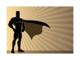 Superhero Background Prints by  Malchev