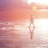 Little Girl on Beach Photo by  melking
