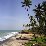 A Beach in Kerala, India, with Two Small Fishing Boats Poster by  PaulCowan