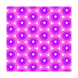 Abstract Flower Background in Shades of Radiant Orchid Print by  amovita