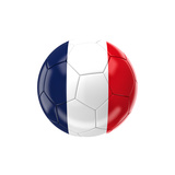 Soccer Ball with France Flag Art by gualtiero boffi