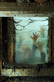 Zombies Outside a Window Photographic Print by  sumnersgraphicsinc