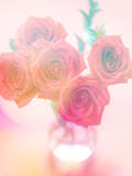 Bouquet of Pink Roses in a Vase Prints by  satel