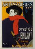 Aristide Bruant - Ambassadeurs Collectable Print by Henri de Toulouse-Lautrec