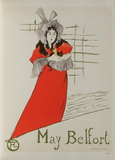 May Belfort Collectable Print by Henri de Toulouse-Lautrec