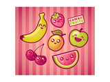 Kawaii Smiling Fruits Posters by  diarom