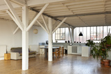 Interior Wide Loft, Beams and Wooden Floor Photographic Print by  zveiger