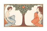 Adam and Eve, Art-Nouveau Style Posters by  drakonova