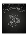 Chalk Flower on Blackboard Poster von  tukkki