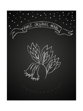 Chalk Flower on Blackboard Posters by  tukkki