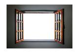 Wide Open Rustic Wooden Window Poster by  ccaetano