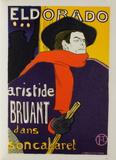 Aristide Bruant - Eldorado Collectable Print by Henri de Toulouse-Lautrec