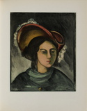 Portrait de Madeleine, 1912 Collectable Print by Maurice De Vlaminck
