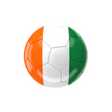 Soccer Ball with Ivory Coast Flag Posters by gualtiero boffi