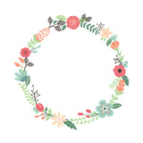 Vintage Flowers Wreath Posters by  yenz