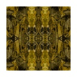 Art Nouveau Colorful Ornamental Vintage Pattern in Gold and Green Colors Art by Irina QQQ
