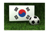Republic of Korea Soccer Prints by  badboo