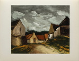 Village de la Sarthe, 1953 Collectable Print by Maurice De Vlaminck