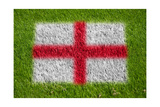 Flag of England on Grass Prints by  raphtong