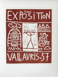 AF 1957 - Exposition Vallauris Samlertryk af Pablo Picasso