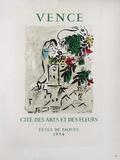 AF 1954 - Vence Cité Des Arts Et Des Fleurs Collectable Print by Marc Chagall
