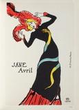 Jane Avril II Collectable Print by Henri de Toulouse-Lautrec