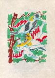 Oiseaux dans le feuillage Begränsad utgåva av Charles Lapicque