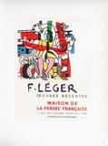 AF 1954 - Maison De La Pensée Française Samlarprint av Fernand Leger