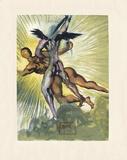 Divine Comedie, Purgatoire 08: Les anges gardiens de la vallee Kerättävät vedokset tekijänä Salvador Dalí