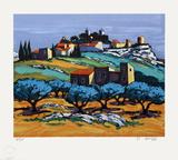 Provence : paysage à Eygalières III Spesialversjon av Jean Claude Quilici
