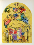 Jerusalem Windows : Levi Collectable Print by Marc Chagall