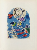Jerusalem Windows : Ruben (Sketch) Collectable Print by Marc Chagall