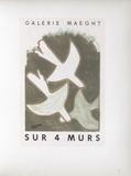 Af 1956 - Galerie Maeght Sur 4 Murs Reproduction pour collectionneurs par Georges Braque