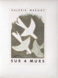 AF 1956 - Galerie Maeght Sur 4 Murs Collectable Print by Georges Braque