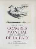 AF 1950 - Deuxième Congrès Mondial des Partisans d Impressão colecionável por Pablo Picasso