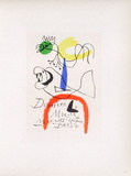 Af 1954 - Derrière Le Miroir コレクターズプリント : ジョアン・ミロ