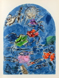 Jerusalem Windows : Ruben Collectable Print by Marc Chagall
