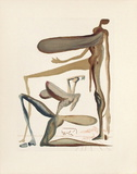Divine Comedie, Purgatoire 22: La prodigalite Keräilyvedokset tekijänä Salvador Dalí