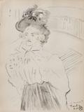 Dessins : femme à mi-corps Collectable Print by Henri de Toulouse-Lautrec