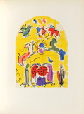 Jerusalem Windows : Levi (Sketch) Collectable Print by Marc Chagall