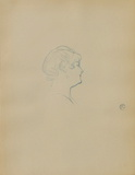 Dessins : Tête de femme de profil Collectable Print by Henri de Toulouse-Lautrec