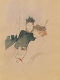 Dessins : Deux femmes au café Samletrykk av Henri de Toulouse-Lautrec