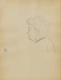 Dessins : Tête de femme de profil à gauche Collectable Print by Henri de Toulouse-Lautrec
