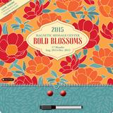 Bold Blossoms Magnetic Message Center - 2015 Calendar Calendars