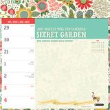 Secret Garden Weekly Desk Pad - 2015 Engagement Calendar Calendars