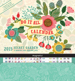 Secret Garden Do It All Wall - 2015 Calendar Calendars