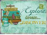 Explore Dream Discover Plakietka emaliowana
