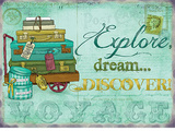 Explore Dream Discover Carteles metálicos